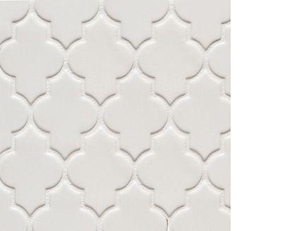 Arabesque Tile Backsplash Behind Stove