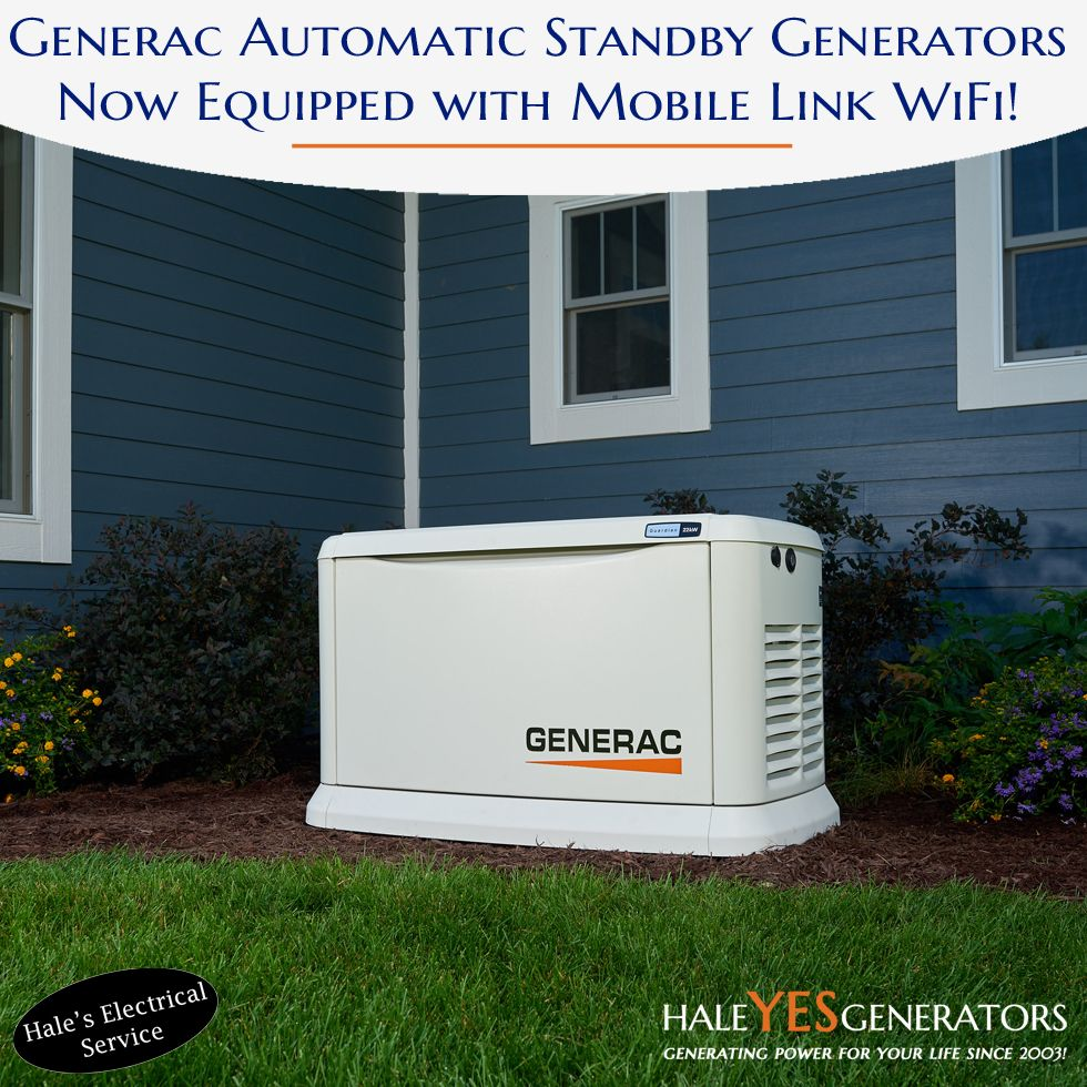 Generac Automatic Standby Generators Are Now Equipped With Mobile Link Wifi Read More About This New Update On Standby Generators Generation Backup Generator
