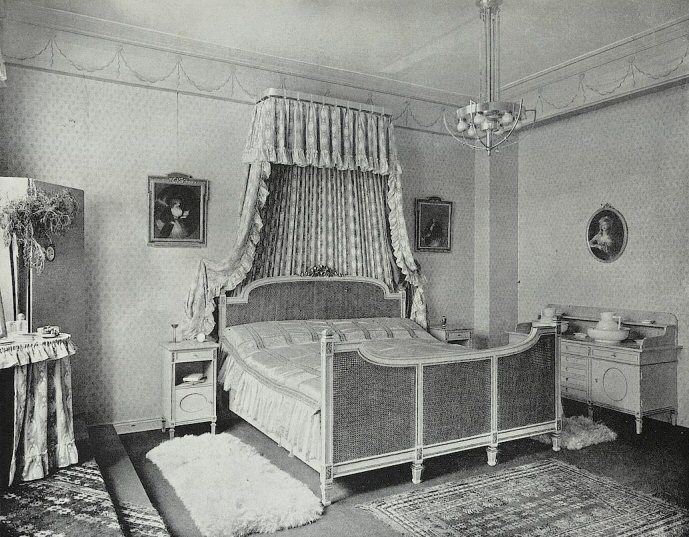 Louis XVI sytle bedroom, 1904 OLD PHOTOS, CARDS, Pinterest
