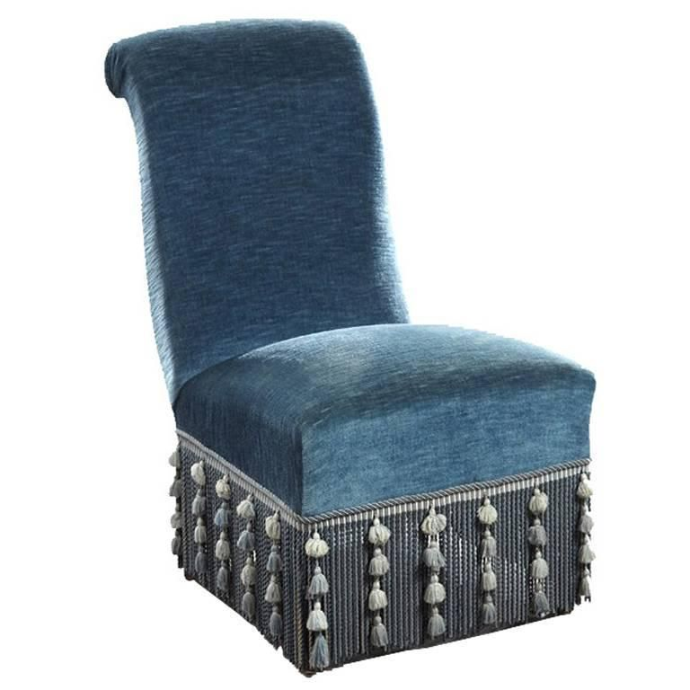 French Empire Fringe Chair Nyc Furniture French Empire Slipper Chair