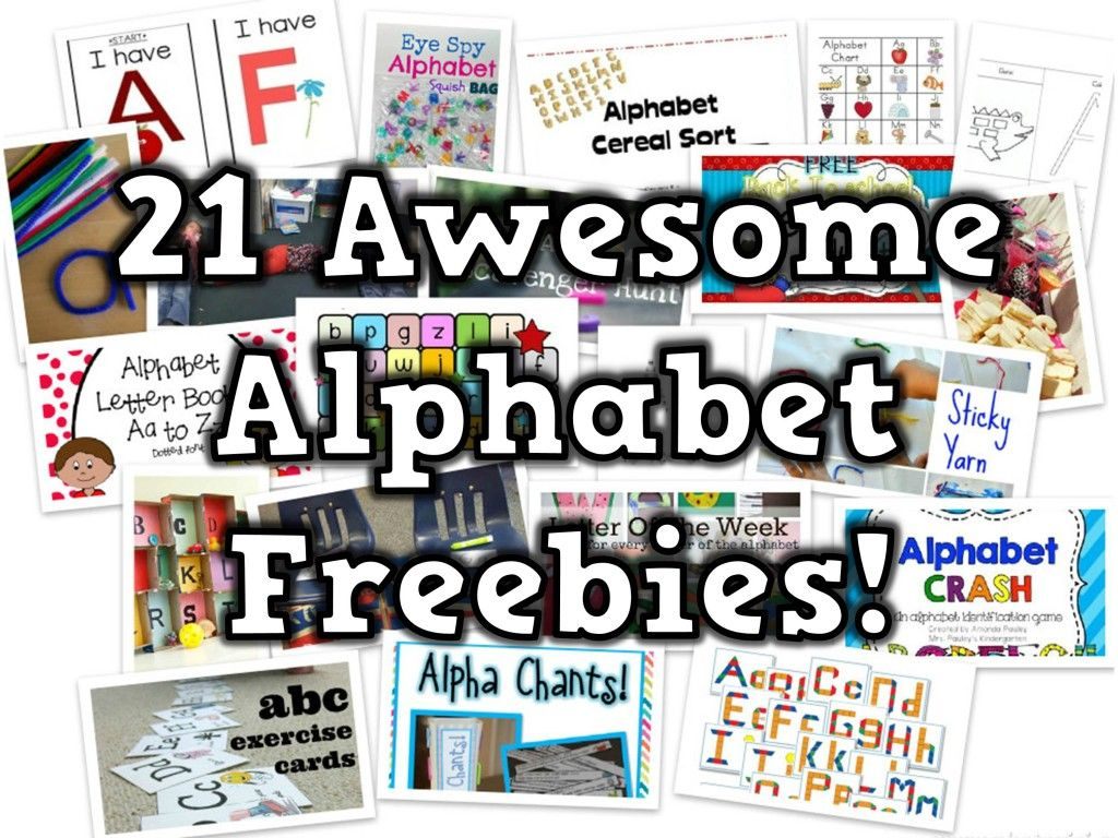 21 Free Alphabet Teaching Resources With Images
