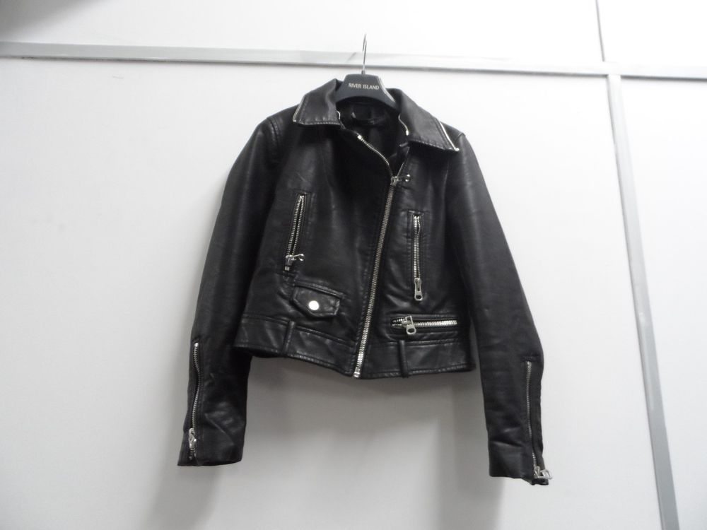 181986db Zara Ladies Cropped Faux Leather Biker Jacket Black Size Small Used  Condition #fashion #clothing #shoes #accessories #womensclothing  #coatsjacketsvests ...
