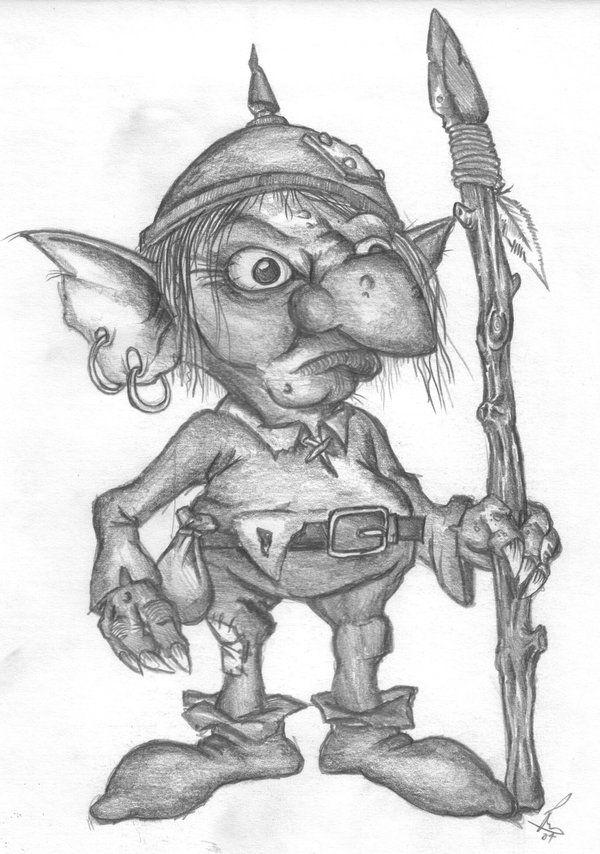 Goblin Drawings   goblin by richardsymonsart traditional art drawings fantasy 2007 2014 ...