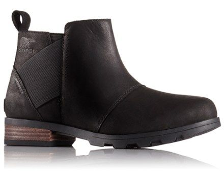 Femme Bottines, Emelie Chelsea, Noir/Marron (Major), Taille: 39Sorel
