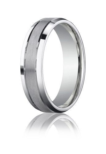 Palladium 6mm Comfort-Fit Satin-Finished High Polished Beveled Edge Carved Design Wedding Band Ring. Benchmark Lifetime Guarantee! Sea of Diamonds. $634.60. Made in U.S.A.. Free Jewelry Box and Free Shipping. Includes Benchmark Lifetime Product Guarantee. This is as authentic Benchmark Designer ring.. Includes Benchmark Lifetime Finger Size Guarantee