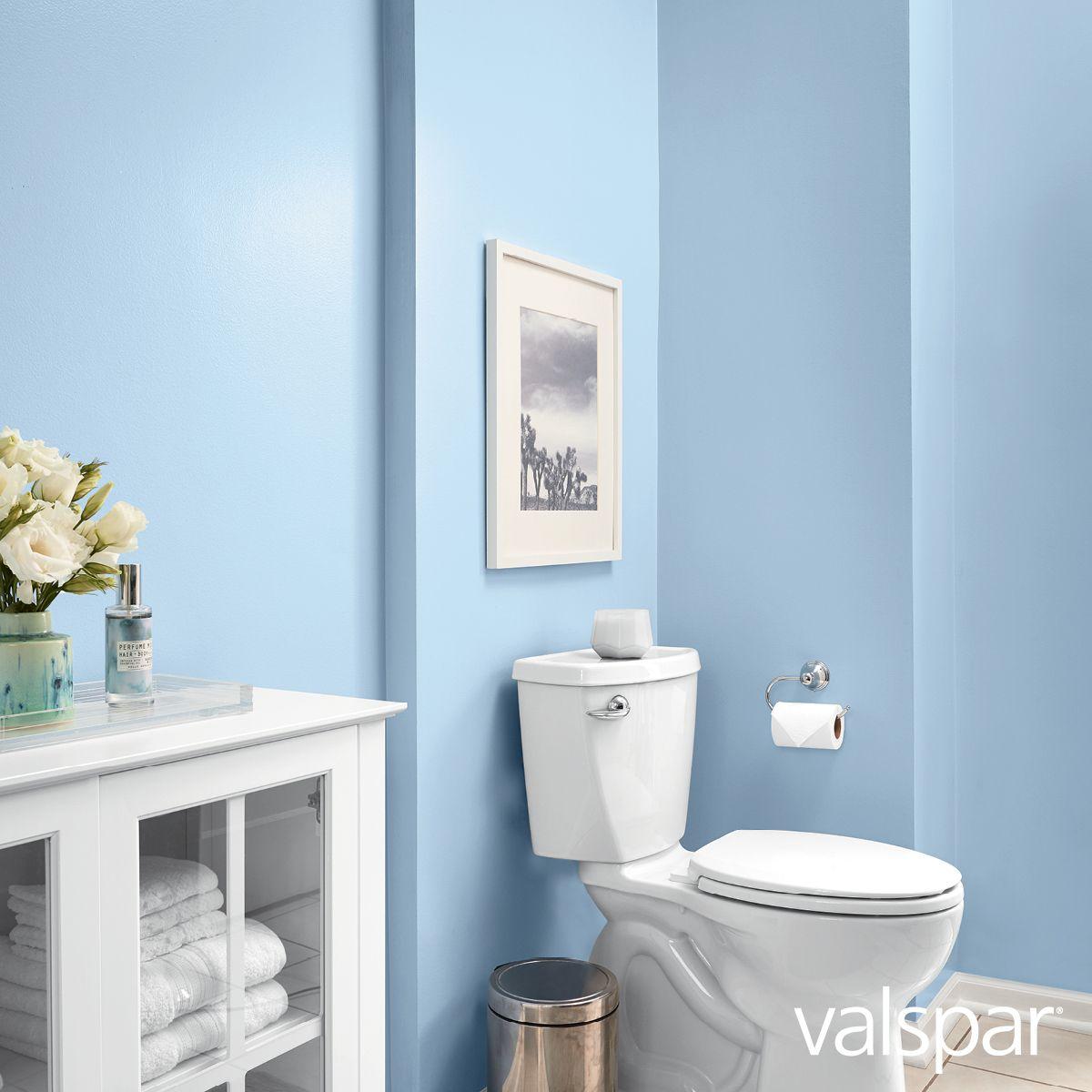 A Beautiful Restorative Blue Paint Color Can Turn Your Private Bathroom Into A Personal Spa Add Luxuriou Valspar Colors Trending Paint Colors Bathroom Colors