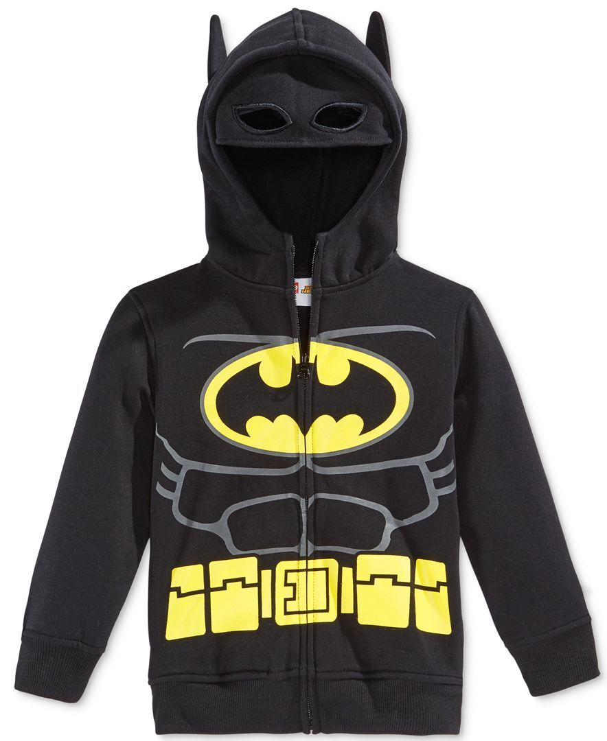 Dc Comics Little Boys' Lego Batman Costume Hoodie | Lego