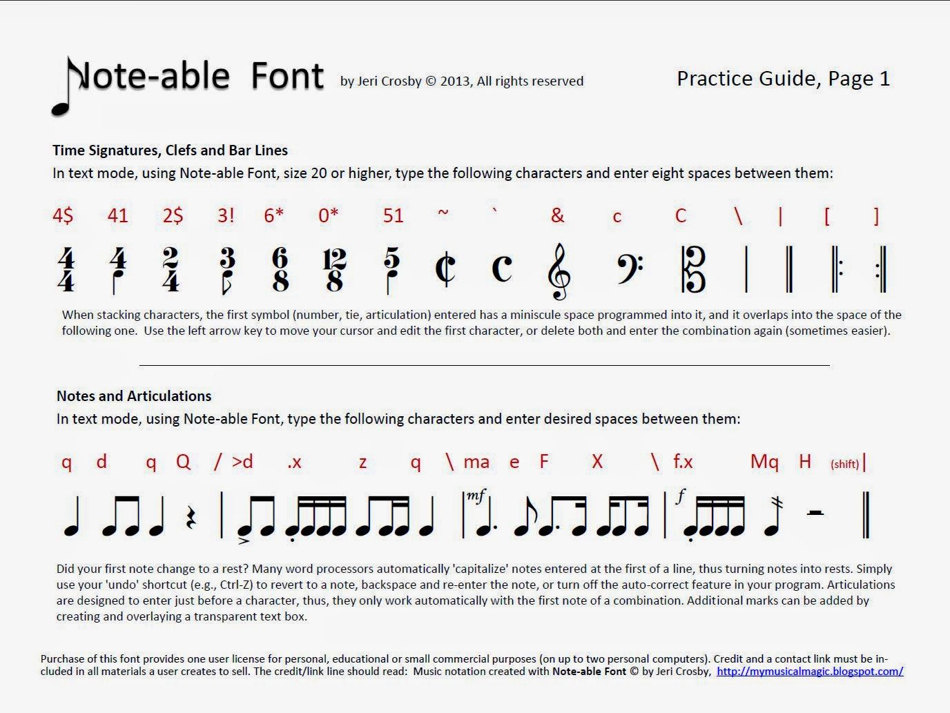 Music Notation Solutions Note Able Font And Music Notation And