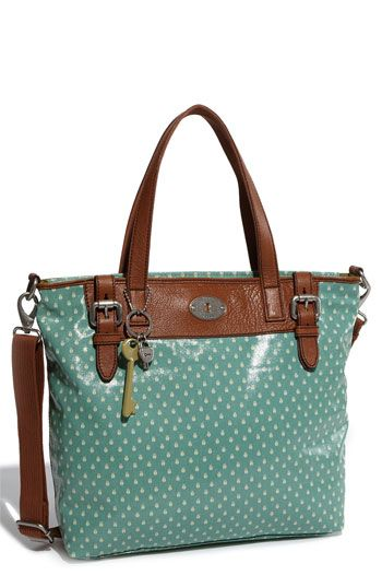 Fossil Vintage Key Per Coated Canvas Tote 128 00
