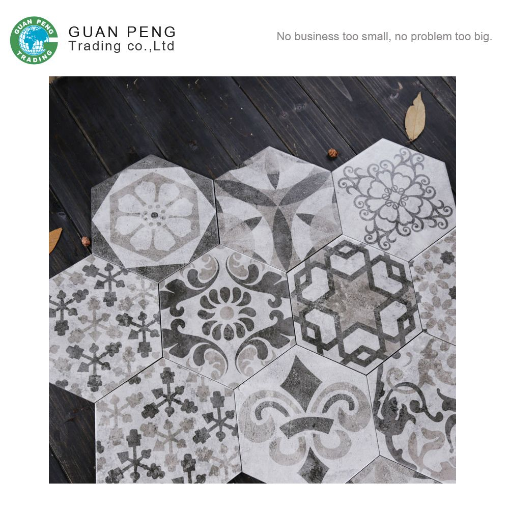 Sri Lanka Grey Floor Tiles Hexagon