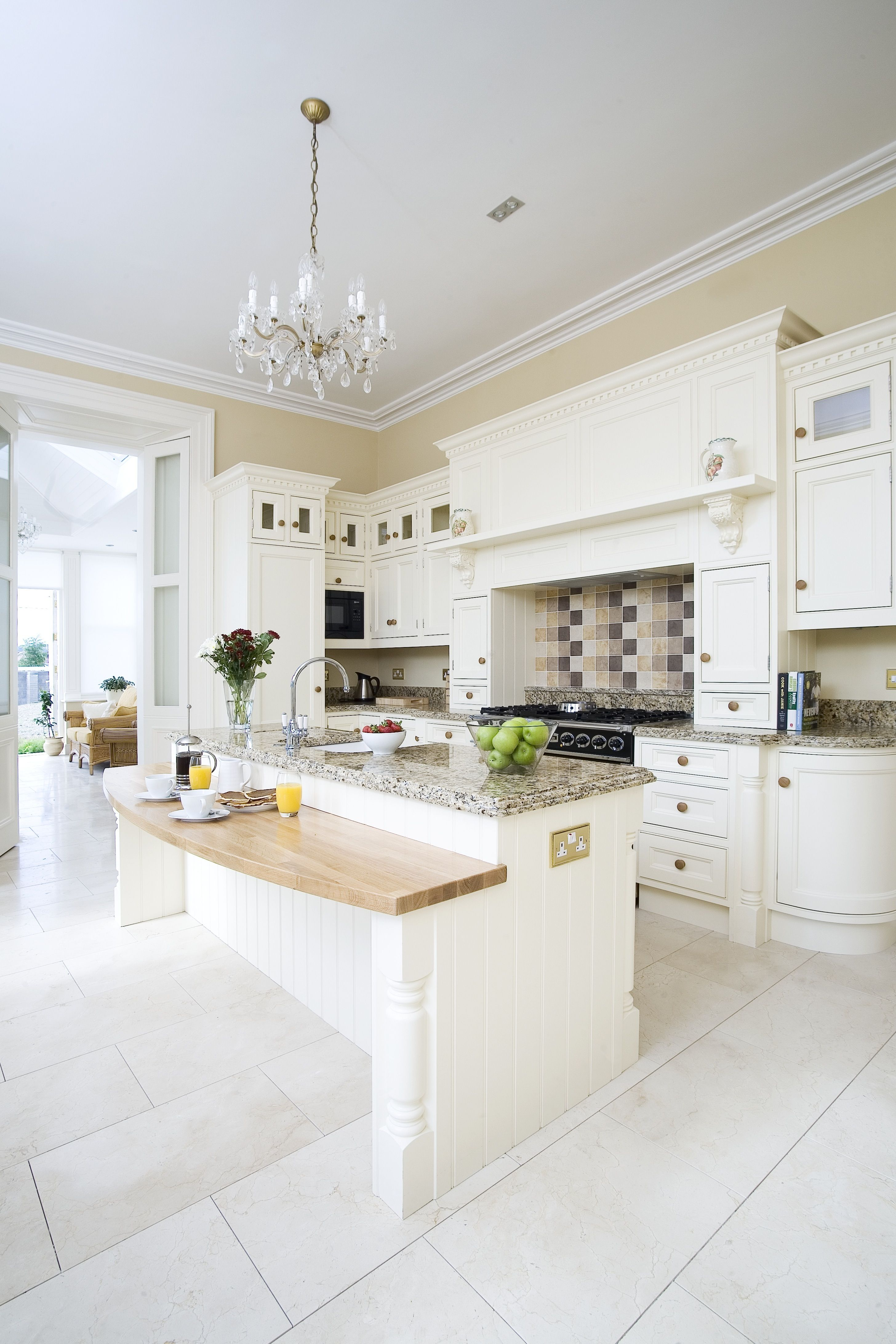 Best Cream Hand Painted Kitchen Fits Perfectly In This Period 400 x 300