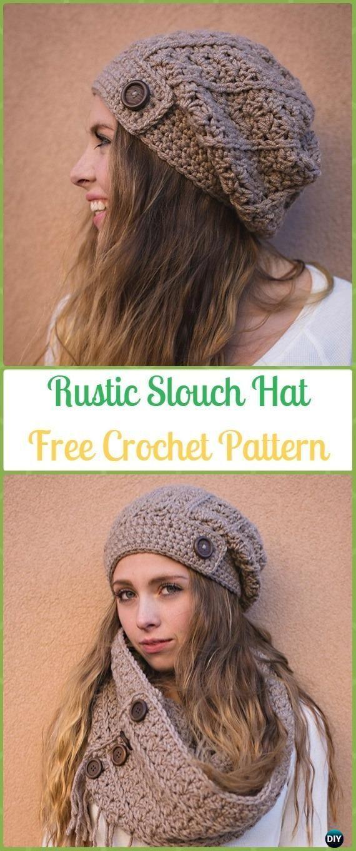 Crochet Rustic Slouch Hat Free Patterns Crochet Slouchy Beanie Hat