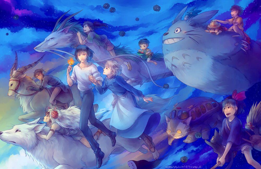 studio ghibli fanart | dessins animés images Studio Ghibli Characters HD fond d'écran and ...