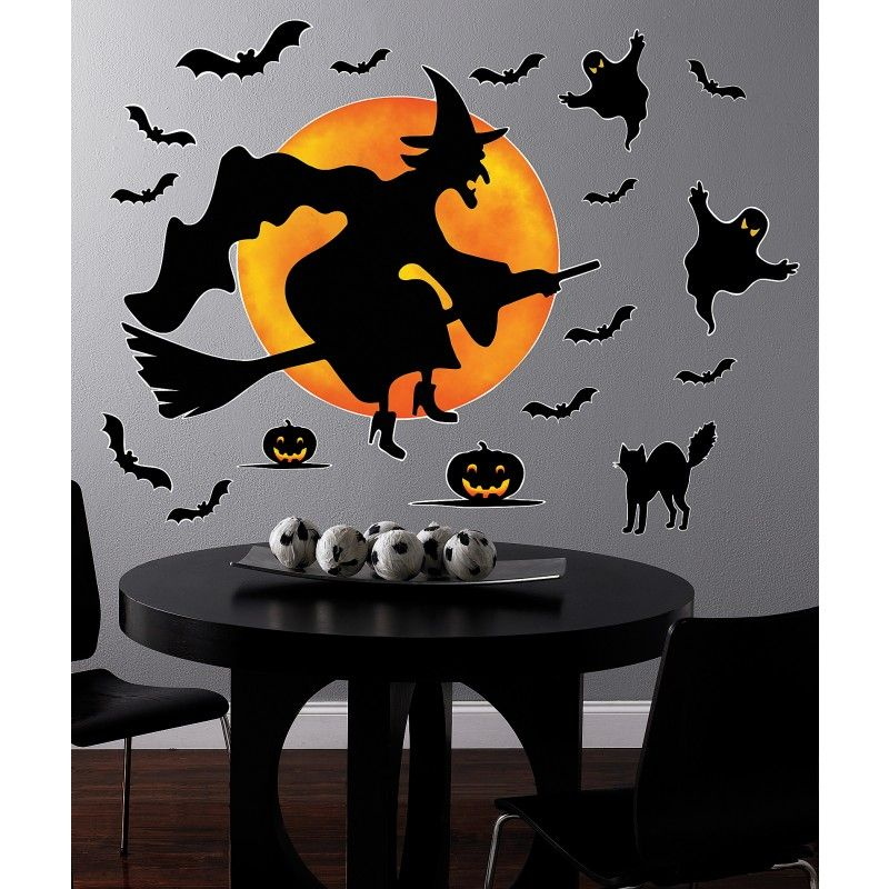 Halloween Witch Giant Wall Decals From Buycostumes Com Halloween