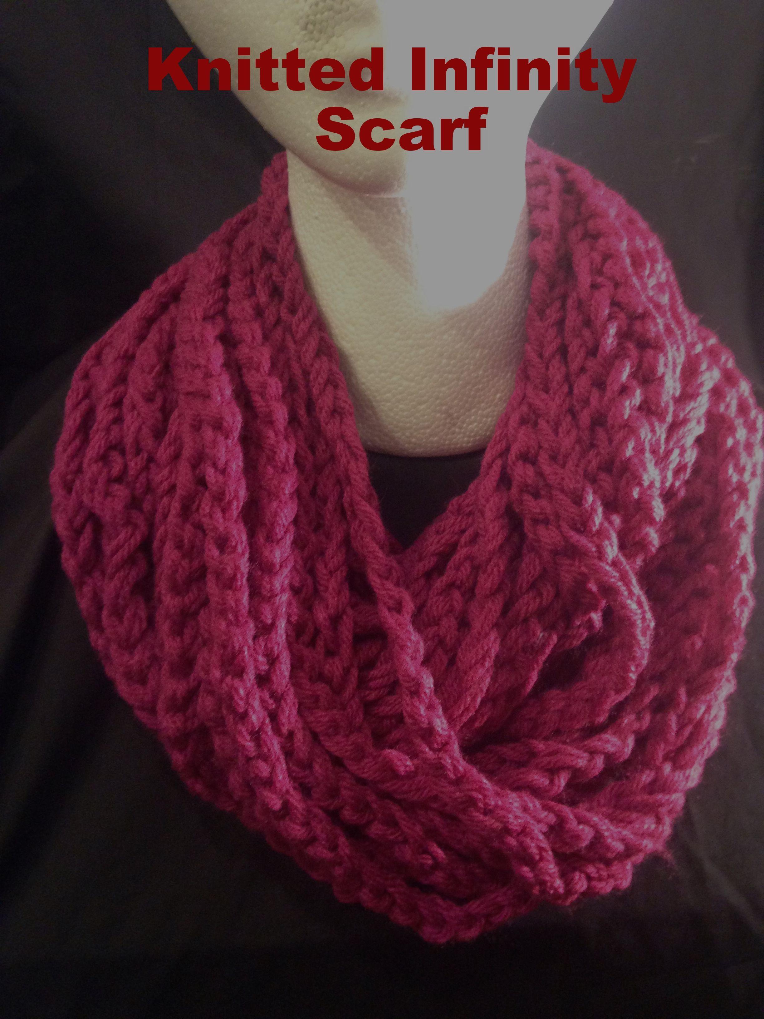 Yarn infinity scarf hand knitted fuchsia blogspodcastsbook yarn infinity scarf hand knitted fuchsia bankloansurffo Choice Image