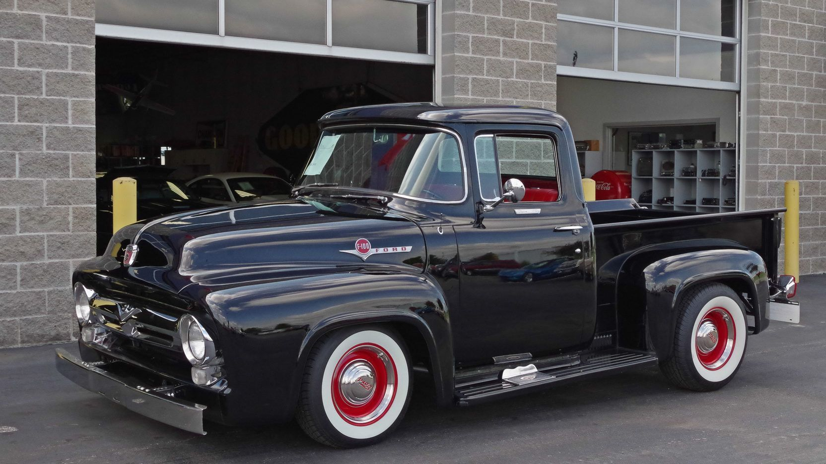 Auction Lot S49 Dallas Tx 2013 California Title All Ford Drivetrain 302 Ci V 8 With Automatic Transmission Flowmast Trucks 1956 Ford F100 1956 Ford Truck