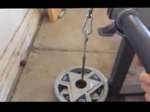 Tricep Push Down Homemade Youtube Weight Training