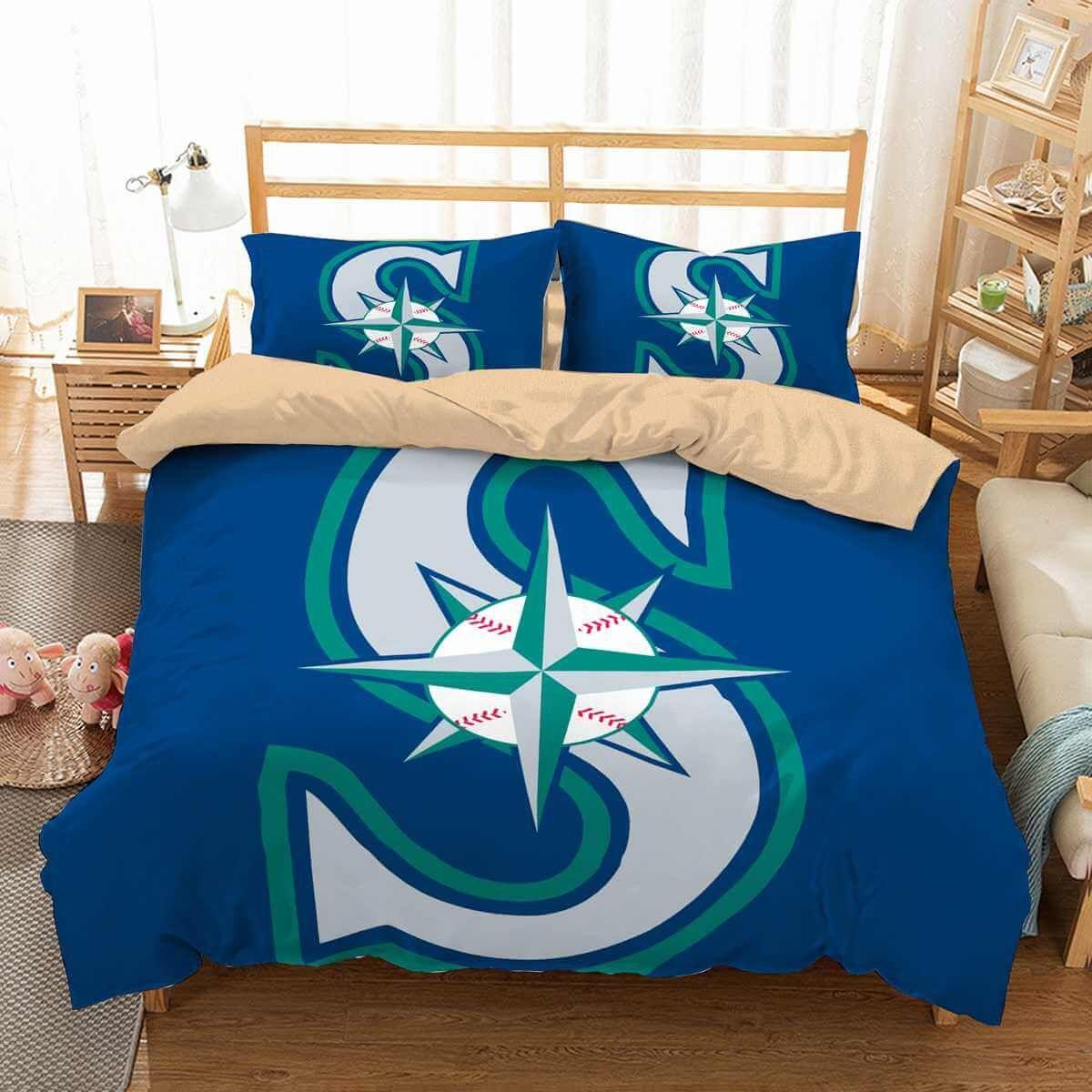 3d Customize Seattle Mariners Bedding Set Duvet Cover Set Bedroom Set Bedlinen In 2020 Duvet Bedding Sets Bed Bed Linen Australia