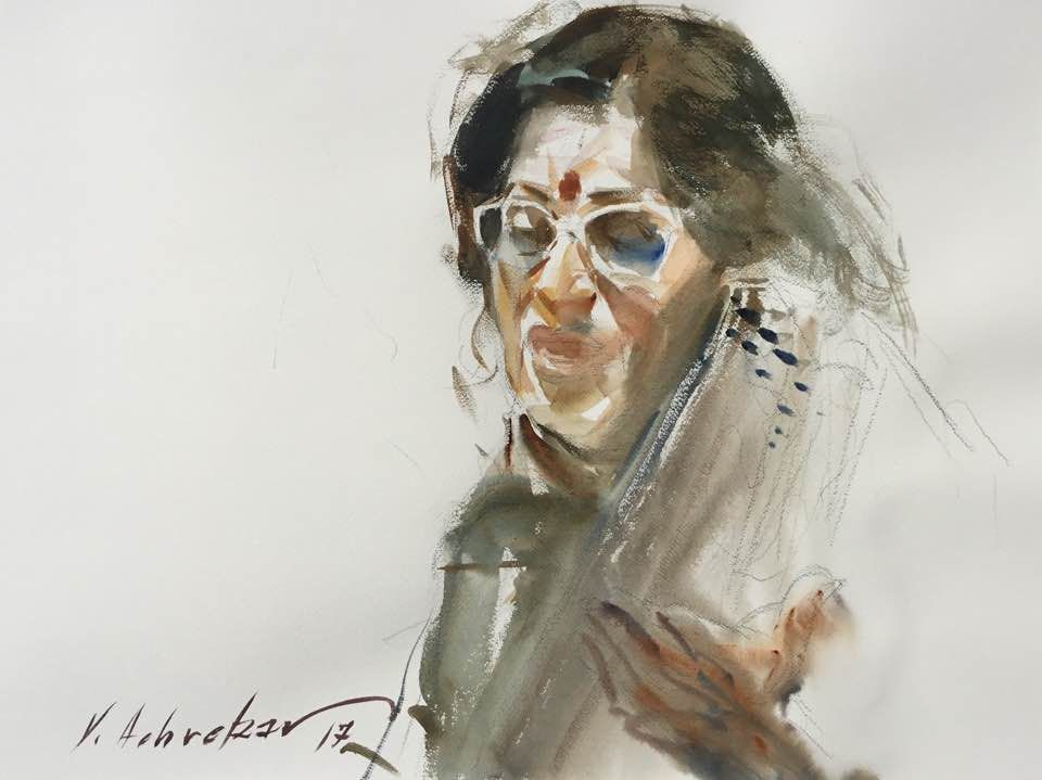 Premium Watercolor Workshop In Banaglore By Vijay Achrekar