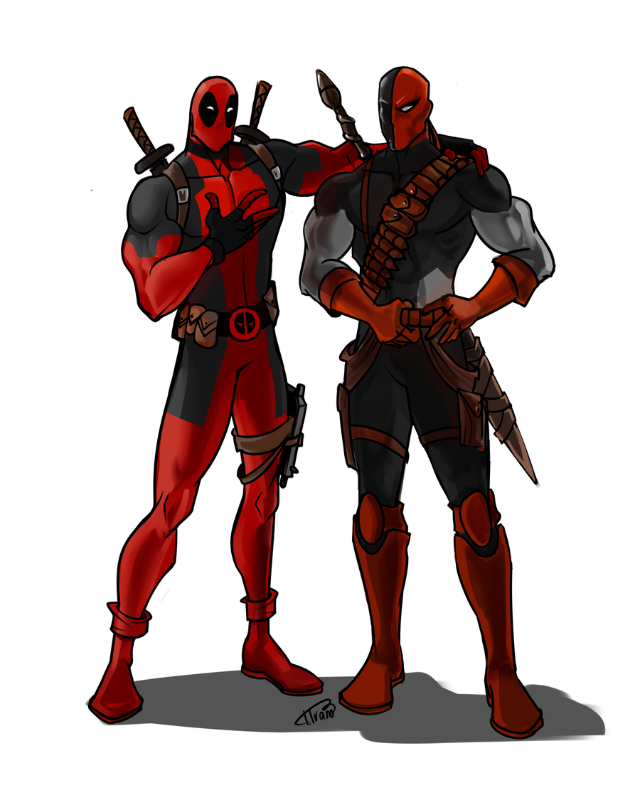 Deathstroke Vs Deadpool Drawings
