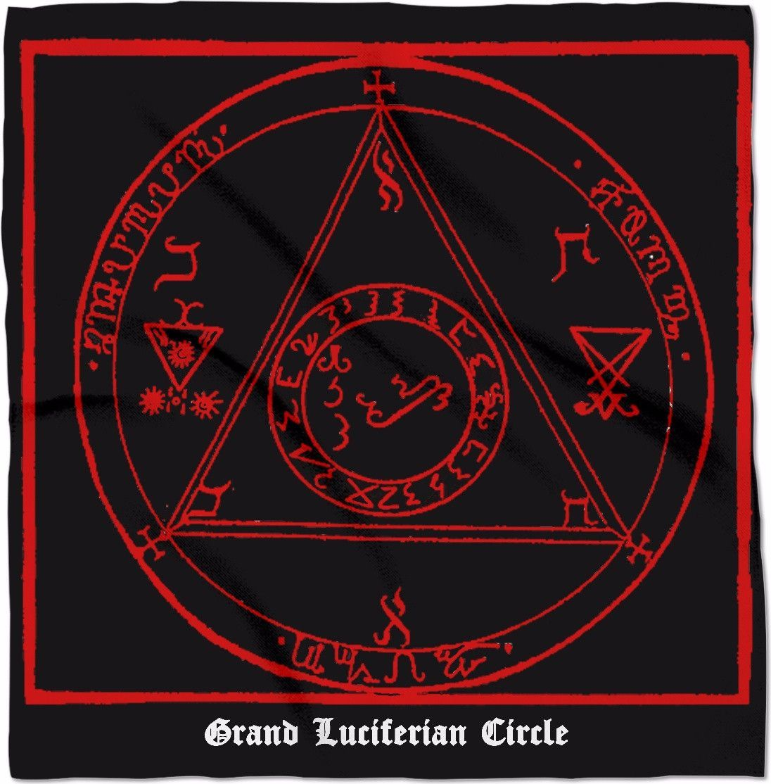 Grand luciferian circle 24 altars banners and symbols from luciferian witchcraft and book of the witch moon the symbol representing biocorpaavc Gallery