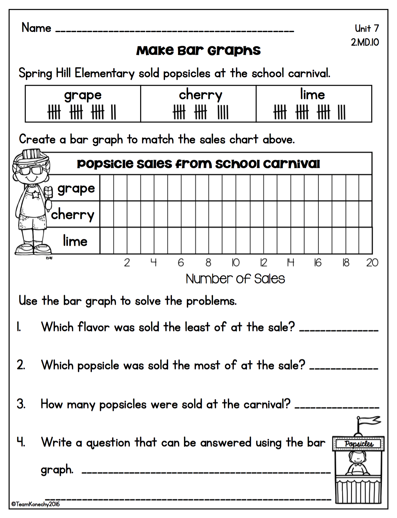 Graphing - Daily Math Lessons - Unit 7 | Tally chart, Bar graphs and ...