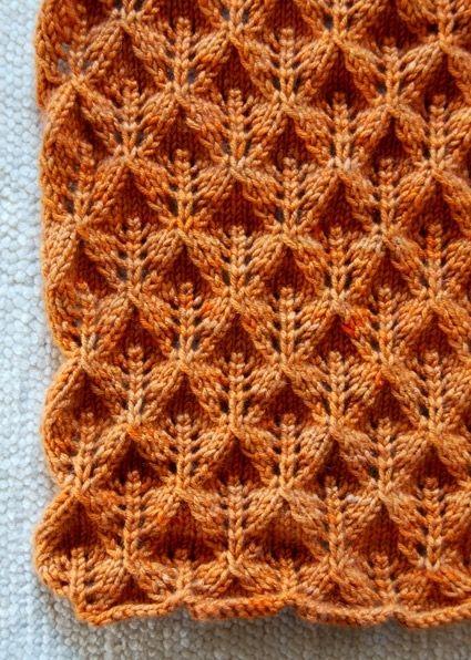 Прелестный шарф с кружевными листьями | Knitting | Pinterest