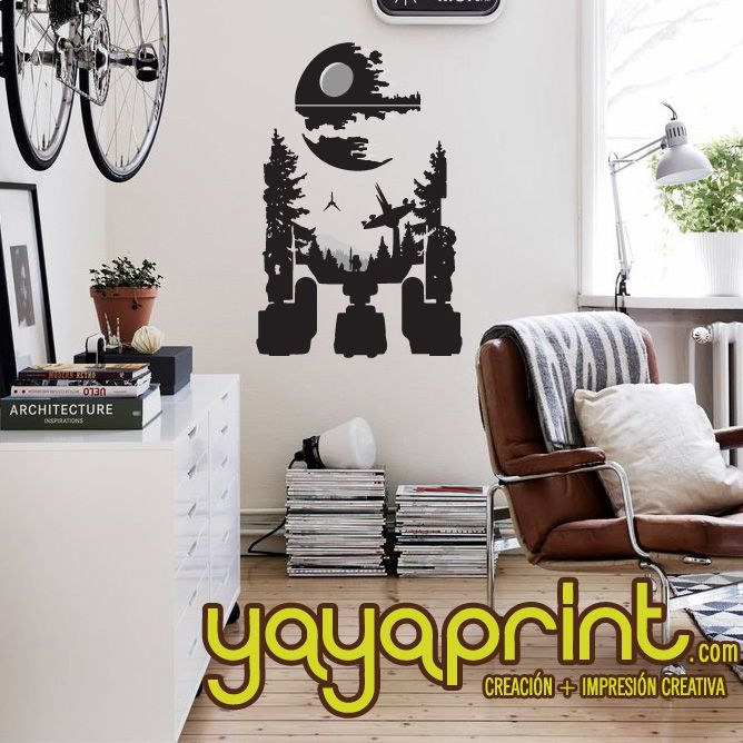 Starwars r2d2 decoraci n star wars robot en cualquier for Decoracion de cuarto star wars