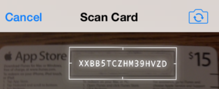 iOS 7 How-to: Redeem iTunes gift cards with your device's camera