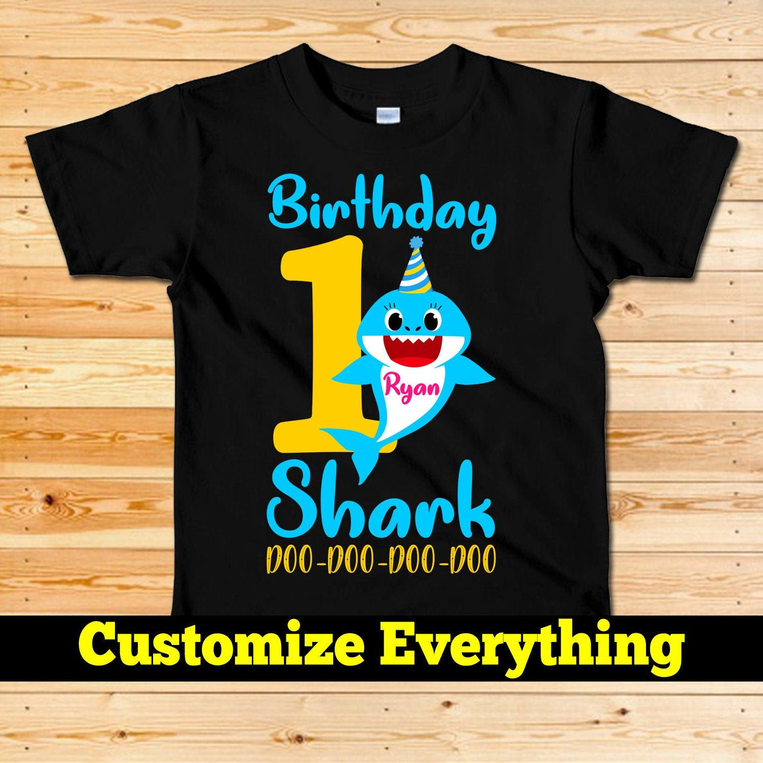 Boy Shark Birthday Shirt,Shark 1st Birthday,Personalized