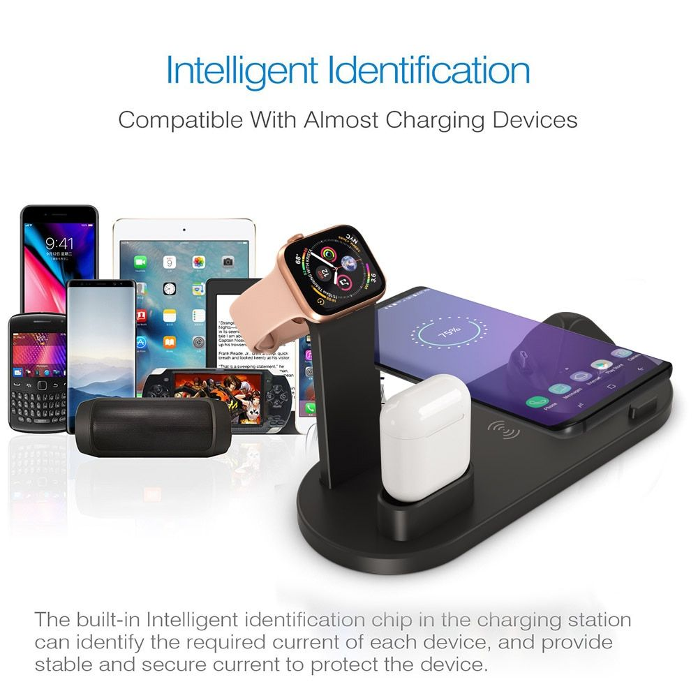 3 In 1 Charging Dock Station For Apple Watch Adamwear In 2020 Apple Watch Iphone Wireless Charger Iphone Wireless Charger