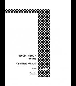 Best case ih 480ck 580ck tractor operators manual download