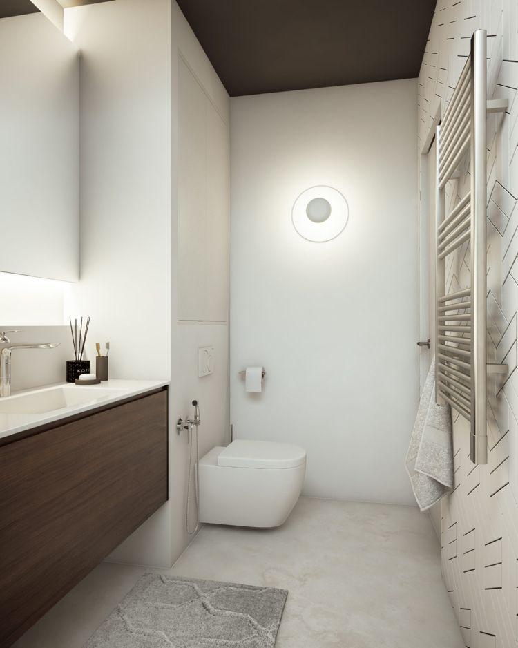 Weiss Grau Beige Badezimmer Schlicht Hell Klein #dream #house