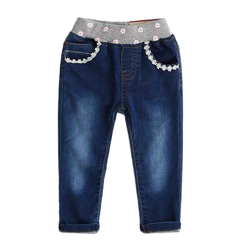 Cheap Bebés de los Pantalones Vaqueros Para Niños Pantalones Primavera  Niños Jean Cintura Elástica Pantalones de d0402e40d09