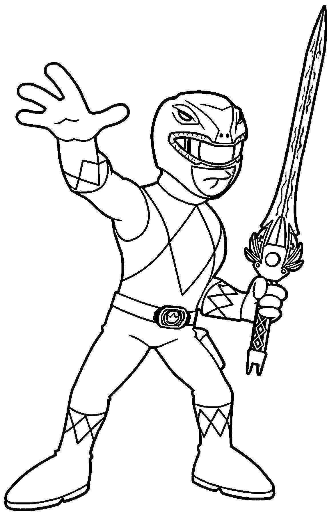Coloriage Power Rangers Ninja Steel A Imprimer Power Rangers