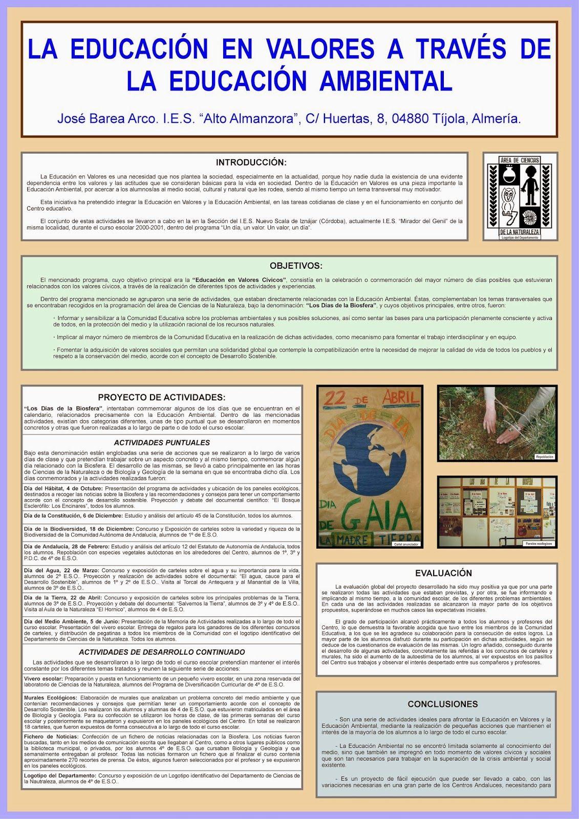 Recursos para la Educación Ambiental: LA EDUCACIÓN EN VALORES A ...