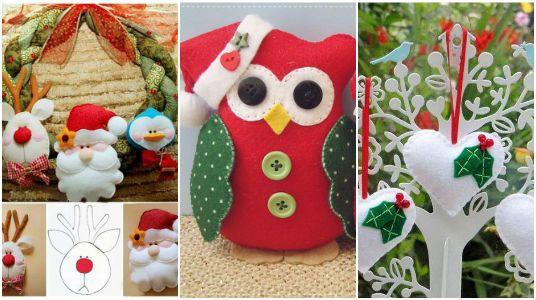 10 ideas para elaborar adornos navide os con fieltro - Ideas adornos navidenos ...