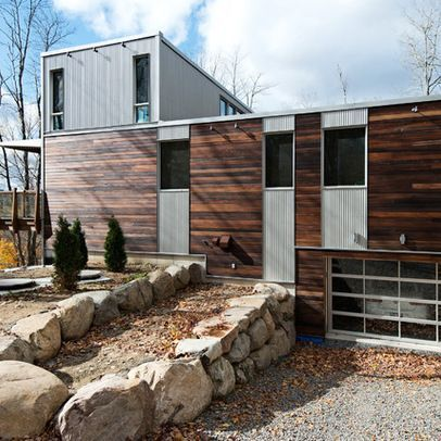 Modern Cedar Horizontal Wood Siding Home With Dark Shingles And Trim Wood Siding House Cladding Vertical Wood Siding Timber Cladding