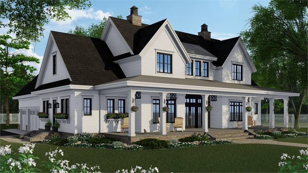 Charming Farm House Style House Plan 7364 Tiverton Modern Farmhouse Plans Farmhouse Style House Plans Farmhouse Style House