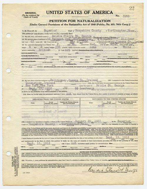 Petition for Naturalization, Hampshire County consulate canada ny - copy fresno california birth certificates