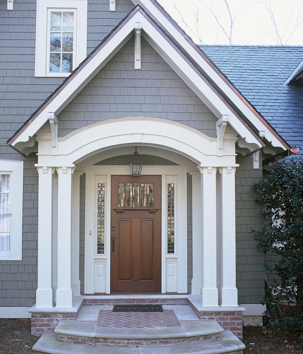 Neelydesign Portfolio Renovations And Restorations Add A Transom Over Front Door Straight Archway This Is My Like The Shake Siding In