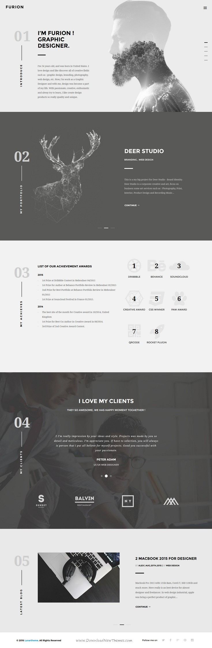 Furion - A Responsive HTML Template for Creative Agencies | Creative