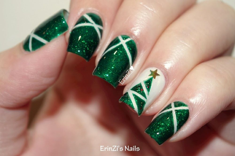 Decoracion De Unas Cute Christmas Nails Christmas Nail Designs Christmas Nails Easy