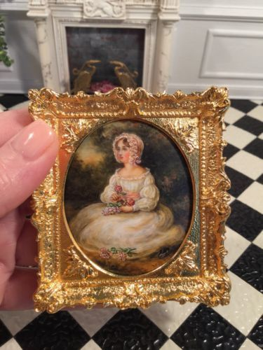 Dollhouse-Miniature-Artisan-Signed-Christopher-Whitford-Oil-Painting