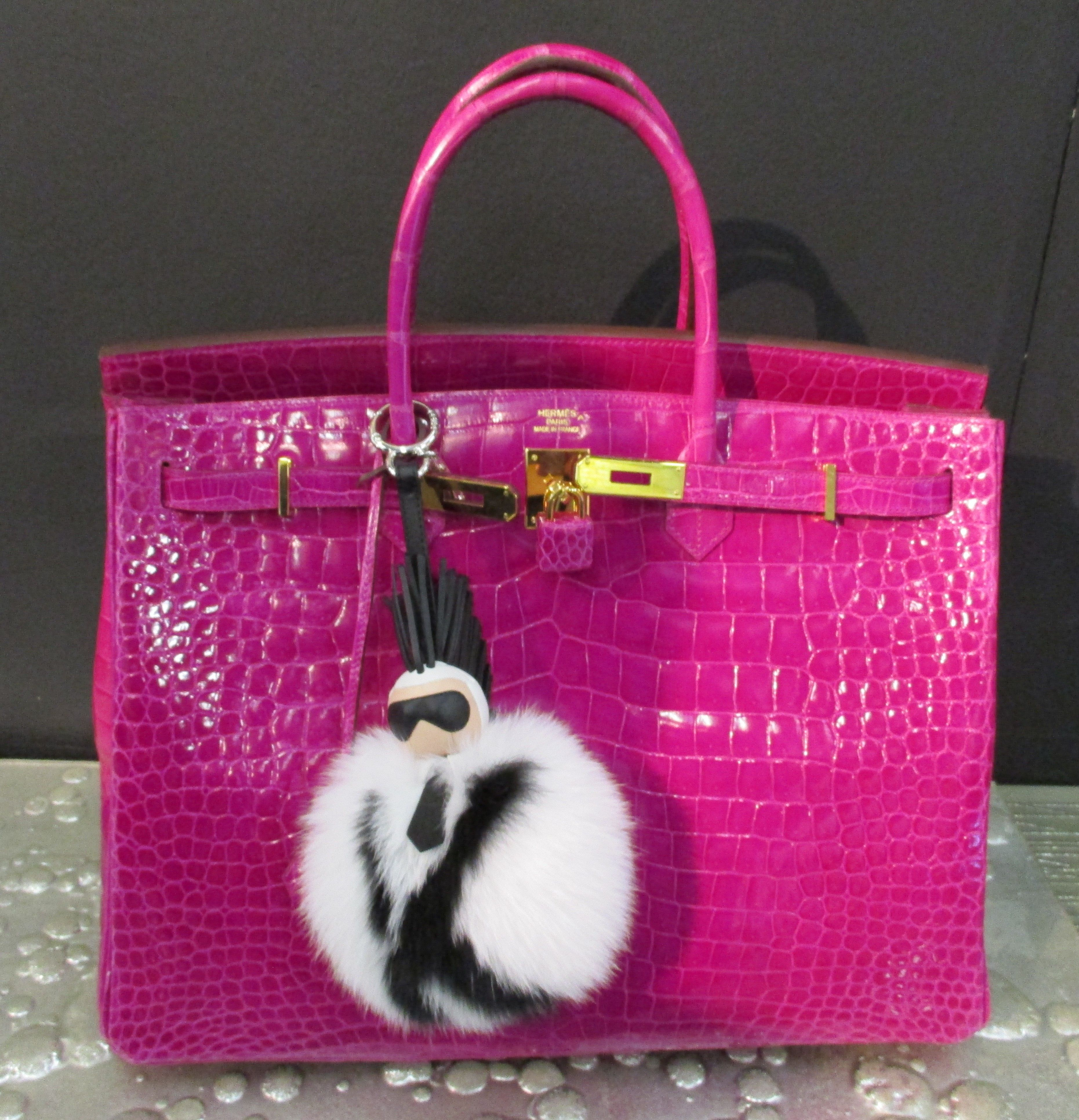 Pink Thing of the Day  Pink Hermes Bag with Karl Lagerfeld ... 211f30dea6