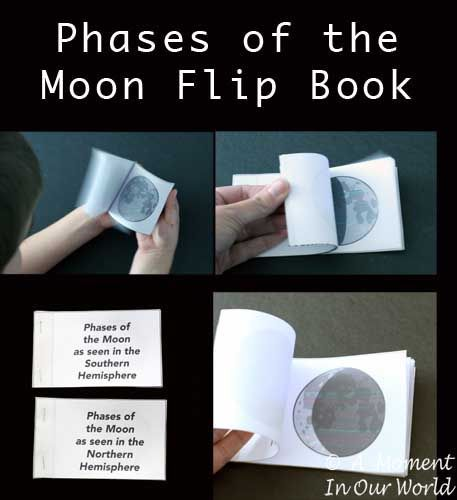 Phases of the Moon Flip Book - A Moment in our World