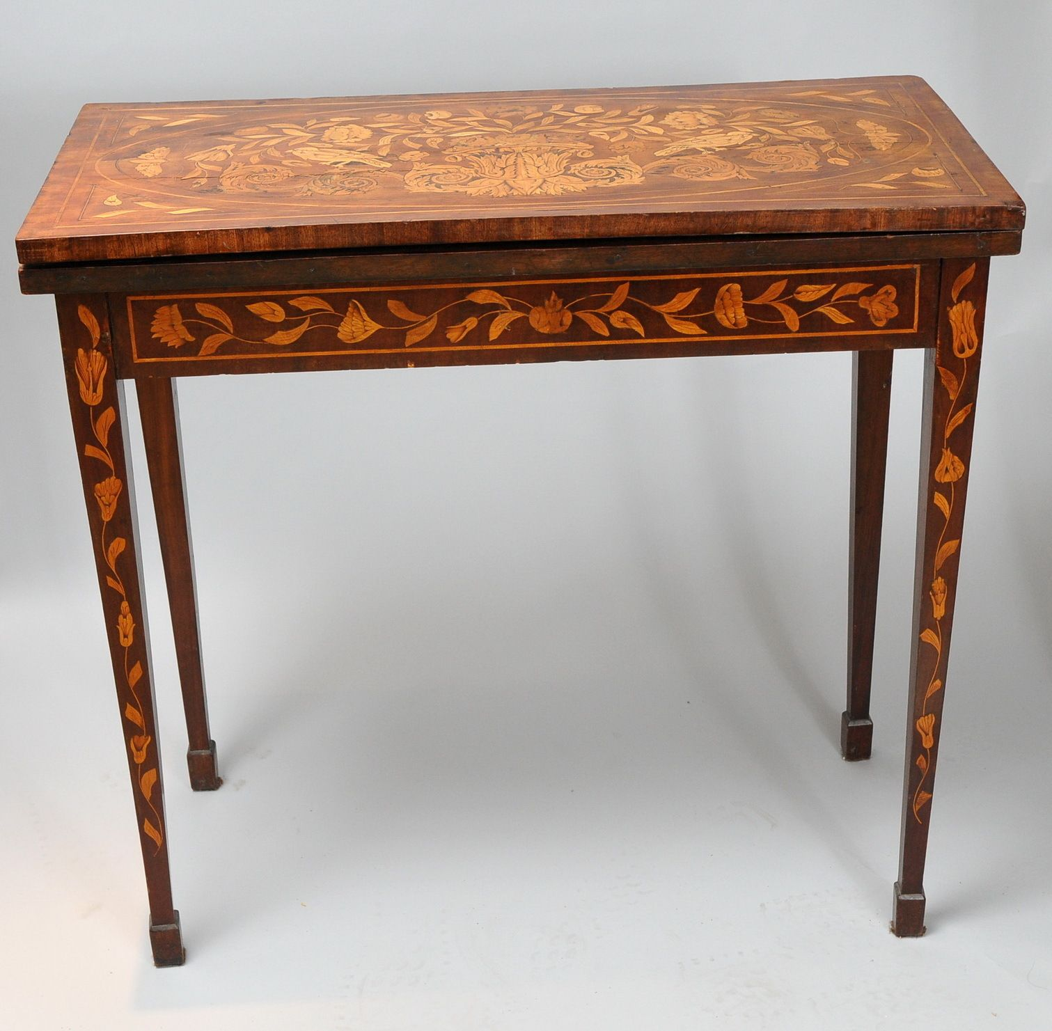 Antique Inlaid Folding Card Table Awesome Extensive Dutch Baroque Marquetry 1730 Marquetry Furniture Upholstered Furniture Antique Furniture