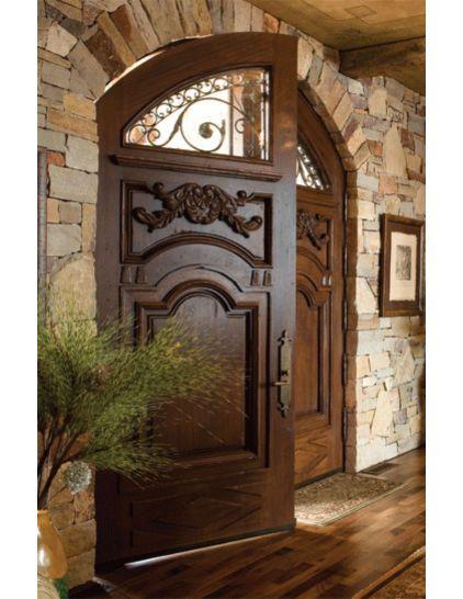 double oak door