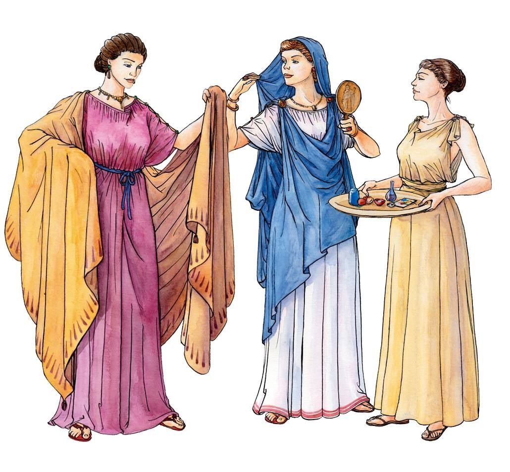 Ancient Greek Clothing: Click The Image To Open In Full Size.