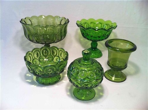 Old Green Candy Dishes From Junk